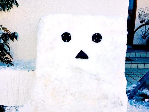 雪ダンボー、雪BB-8、雪オラフ、雪猫