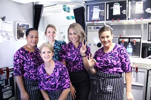 ニュージーランド航空 客室乗務員さんたち