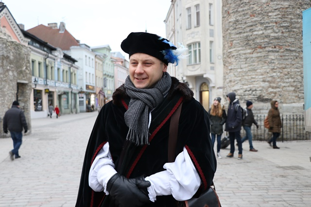 エストニア タリン旧市街 中世の商人