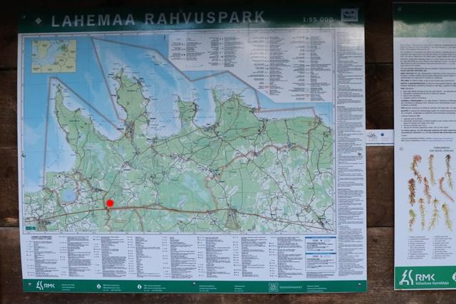ラヘマー国立公園 ヴィル湿原 地図