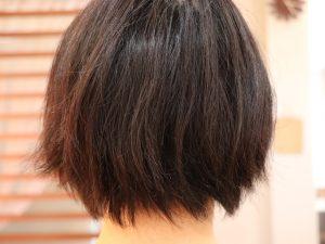 ミネコラ質感矯正前の髪の毛の状態