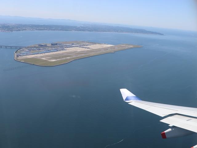 中華航空機からの眺め