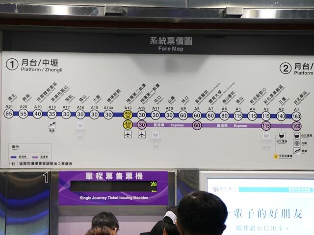 台北桃園空港からMRT空港線で台北市内へ
