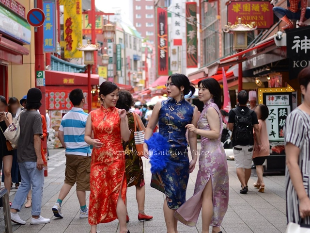 神戸・南京町でチャイナドレス写真撮影
