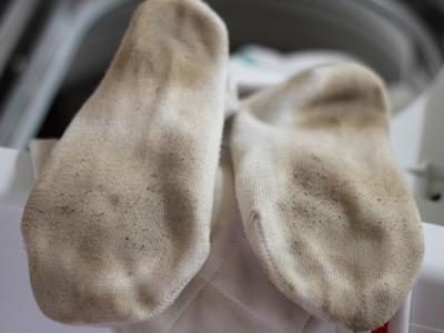 洗濯前の靴下