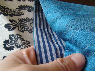 マザーズタッチの折り紙バッグ 生地アップ