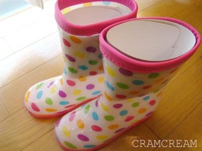 CRAMCREAM(クラムクリーム) ガーリーレインブーツ 子供用長靴