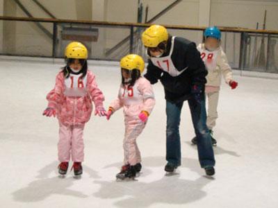 子どもといっしょに一日スケート教室を受講