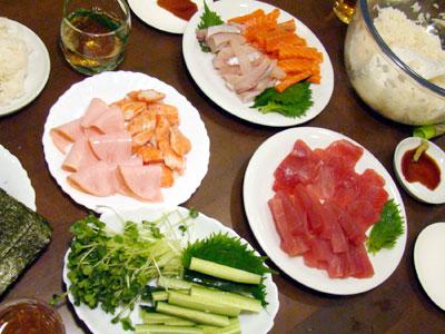 おうちで手巻き寿司は、安い・おいしい・楽しい!