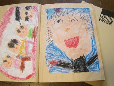 KOKUYO スクラップブックで子どもの絵や作品を保存する
