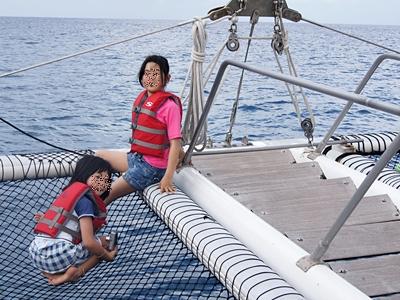 子連れグアム旅行2012 その2 イルカツアー&パラセイリング