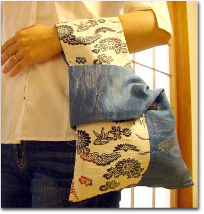 マザーズタッチの「折り紙バッグ」(着物リメイクバッグ)