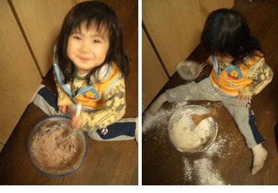 長女の初めての手づくりクッキー