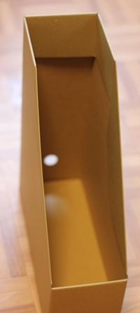 無印良品 ワンタッチで組み立てられるダンボールスタンドファイルボックス