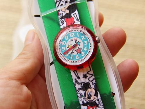 ミッキーの時計をはめてアメリカへ。スウォッチ FlikFlak ミッキー・マウス