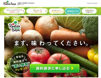 0円で有機低農薬の濃い野菜が試せる らでぃっしゅぼーや資料請求プレゼント