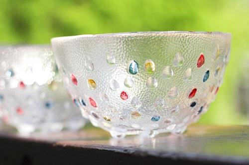 宝石を散りばめたみたいなDANSK(ダンスク)のガラス器/フルーツボウル
