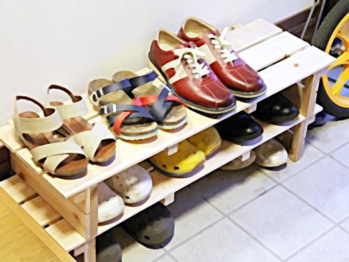 手作り靴棚