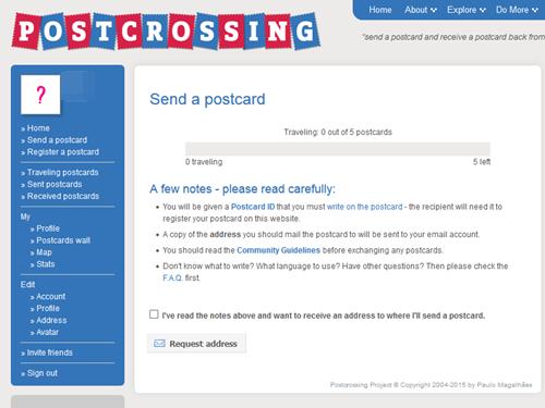 ポストクロッシング Postcrossing