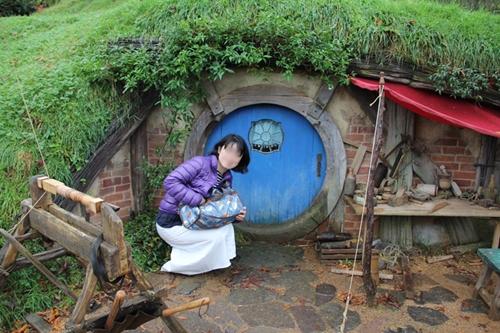小さい扉のホビット穴