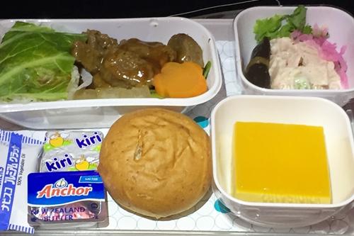 ニュージーランド航空 機内食