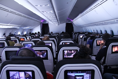 ニュージーランド航空 機内