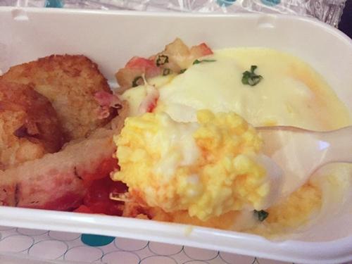 ニュージーランド航空 機内食(朝食)