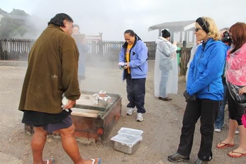 ハンギ蒸気室 地熱料理
