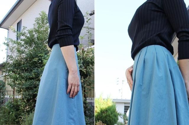 30代・40代女性におすすめ すっきり細見えが叶う 日本製サイドタック アシンメトリー スカート