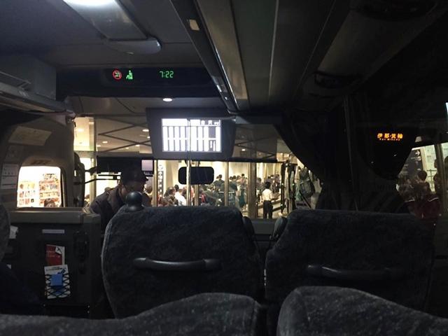 名古屋発金沢行き 高速バス(ハイウェイバス)