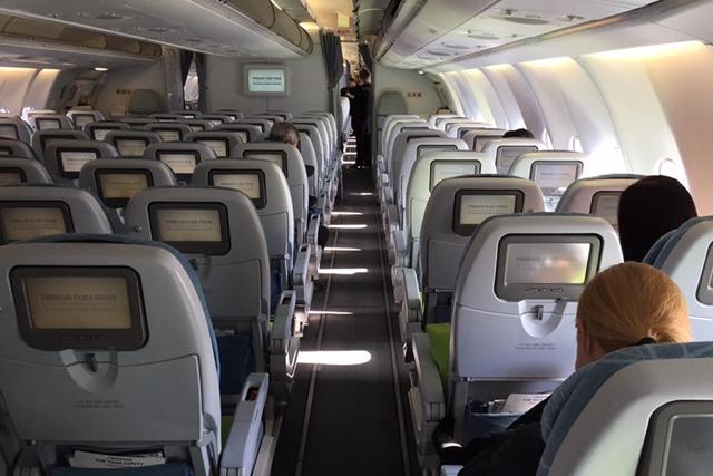 フィンランド航空便 機内の様子