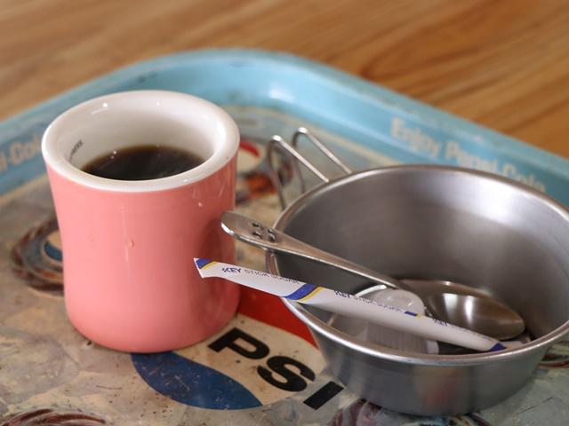 みたけカヌー教室でカヤック体験後のコーヒー