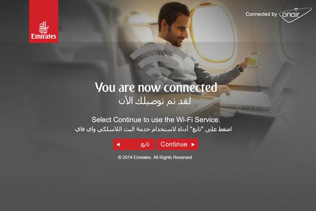 エミレーツ航空なら飛行機の無料Wi-Fiでインターネットができる! 機内Wi-Fi利用方法の紹介