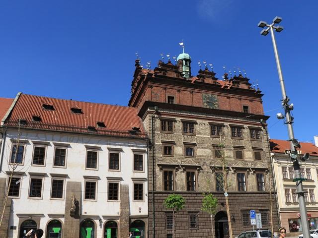 チェコ プルゼニュ ルネサンス様式の公会堂