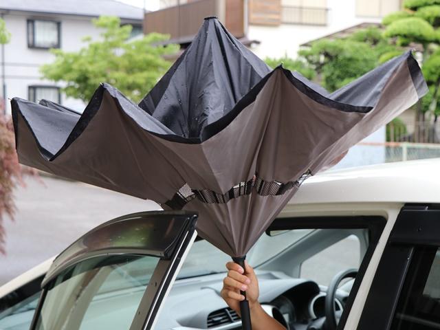 逆さに開く傘