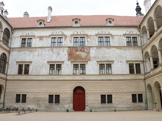 世界遺産リトミシュル城 中庭