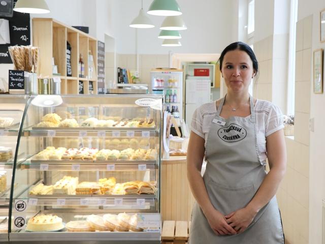 オロモウツチーズのお店のスタッフ