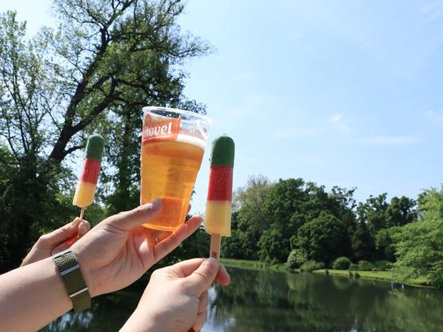 ビールとアイス
