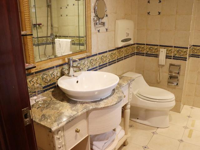 麗都唯客楽飯店のトイレと洗面台