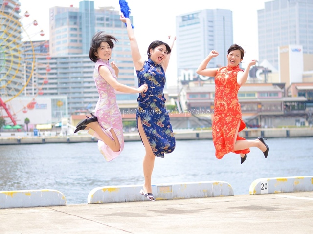 神戸・南京町&ハーバーランドでチャイナドレス撮影会をしてきました!