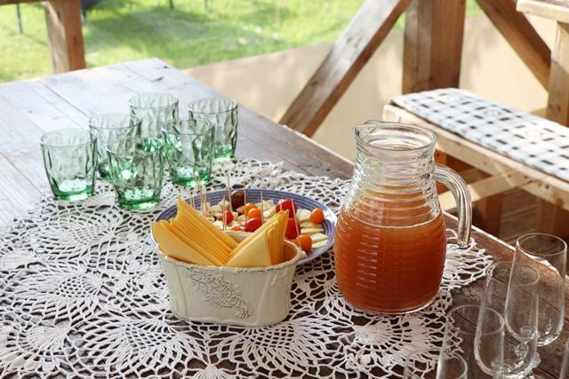 自家製リンゴジュース