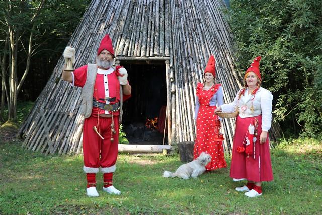 エストニア サンタの煙突村にある小屋