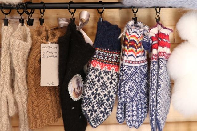 アルパカの毛で作られた製品を販売するショップ