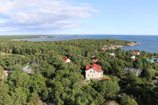 フィンランド・ハンコの給水塔からの景色