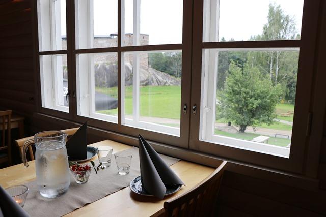 フィンランド ラーセポリ城址のカフェ