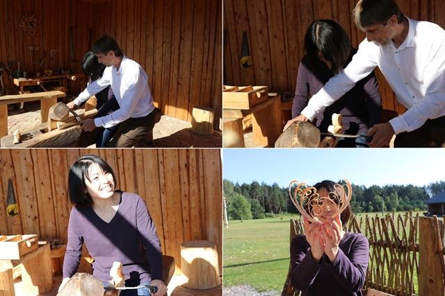 大工工房での木工ワークショップ体験
