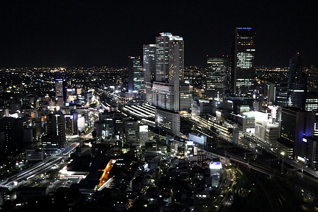 名古屋プリンスホテルスカイタワー 客室からの夜景