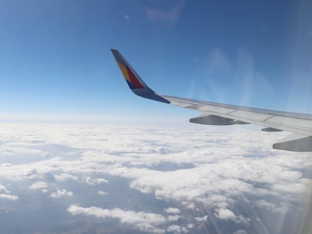 アシアナ航空機で韓国ソウル旅行