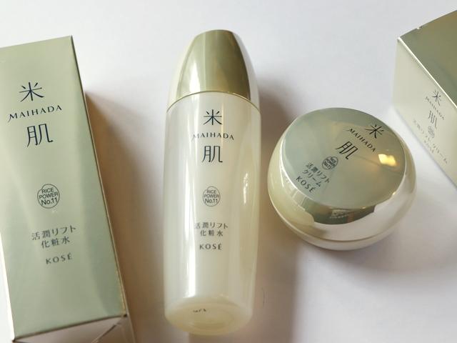 KOSE米肌シリーズのエイジングケア 活潤リフト化粧水&活潤リフトクリーム