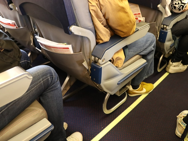 中部国際空港からグアムまでティーウェイ航空の直行チャーター便に搭乗
